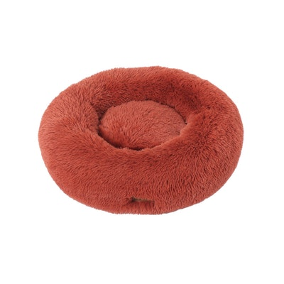 Charlie's Faux Fur Fuffy Calming Pet Bed Nest - Terracotta
