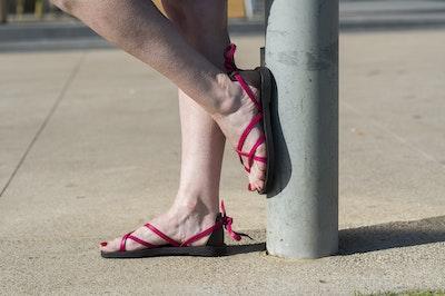 Hera - Adjustable Leather Sandal, Lace Up Sandal, Strappy Sandal, Unique Tie Up Sandal, No Buckle Sandal, Crisscrossing Strap Sandal