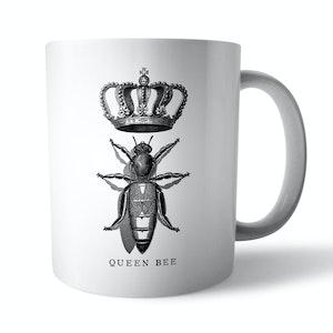 Vintage Queen Bee Ceramic Mug