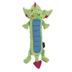 Quaker Dog Toys Quaker Go Dog Toys - Skinny Green Dragon - Small