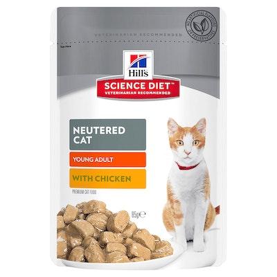 Hills Young Adult Neutered Cat Wet Cat Food Chicken 12 x 85g