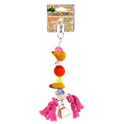 Penn Plax Parrot Fruit Kabob Bird Toy Small