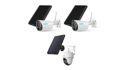 Reolink Ultimate Security Camera Pack 2x Reolink Eco 100% & 1 Reolink Pan & Tilt Wireless Battery WiFi Smart Home Security Cameras With Solar Panels