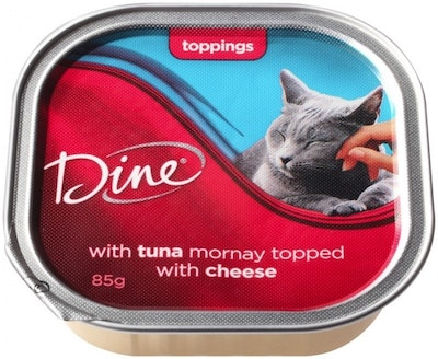 Dine Wet Cat Food Cuts Saucy Morsels Tuna Mornay & Cheese 85g x 14