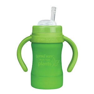 green sprouts Sprout Ware Straw Cup made from Plants-6oz-Green-9mo+