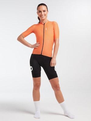 Black Sheep Cycling Women's WMN LuxLite Jersey - Orange Wave