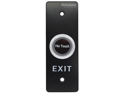 Neptune Matt Black touchless sensor mullion mount exit button with LED