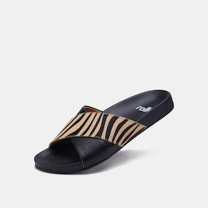Rollie Nation Tide Cross Slide Black Zebra