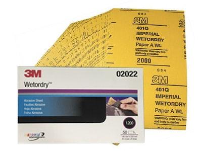 3M Fine Wet & Dry Sanding Half Sheets Pack 50
