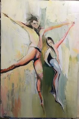Virginia Bucknell Artworks Ballet Dancers in Pas De Deux