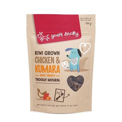 Yours Droolly Kiwi Grown Chicken & Kumara Dog Treats