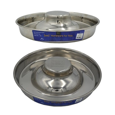 Zeez Stainless Steel Durable Puppy Saucer 28cm - 2 Sizes