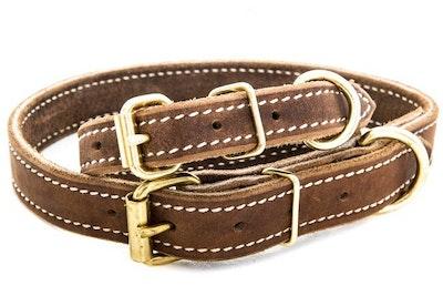 "K9 PRO Soft Hide Leather Collar 1"""