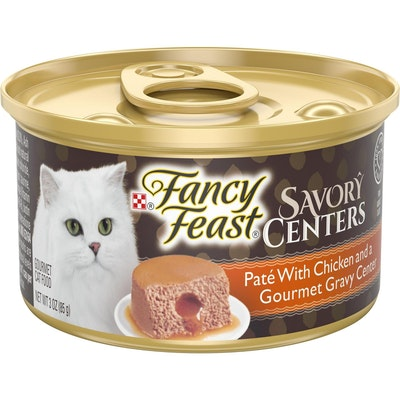 Fancy Feast Savory Center Wet Cat Food Pate w/ Chicken & Gourmet Gravy 24 x 85g