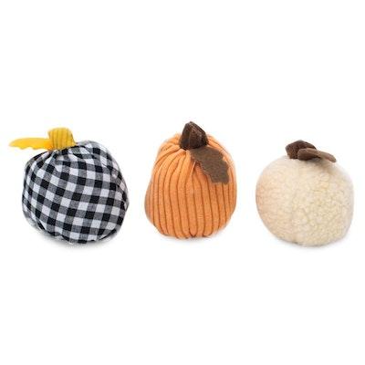 Zippy Paws Plush Squeaker Dog Toy - Halloween Miniz 3 Pack - Gourds