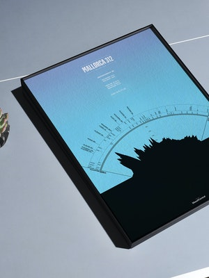 Mallorca 312 - Personalised Data Art print by Massif Central