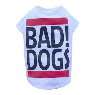 DoggyDolly BIG DOG - Bad Dog White Doggy T Shirt