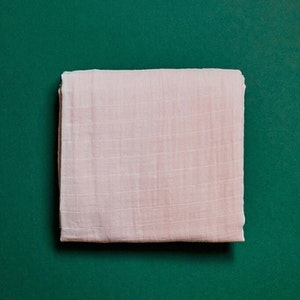 One Eco Step Organic Cotton Muslin Swaddle - Pink