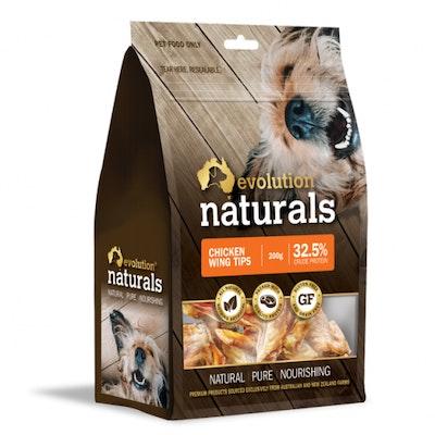 EVOLUTION NATURALS Chicken Wing Tips Dog Treats 200G
