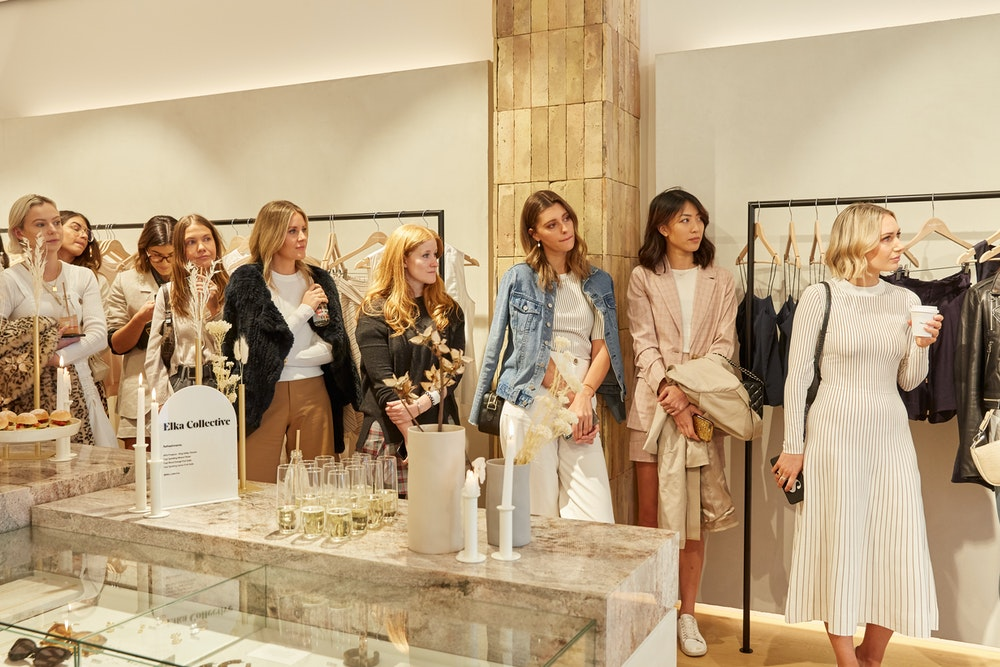 Elka Collective in-store influencer event