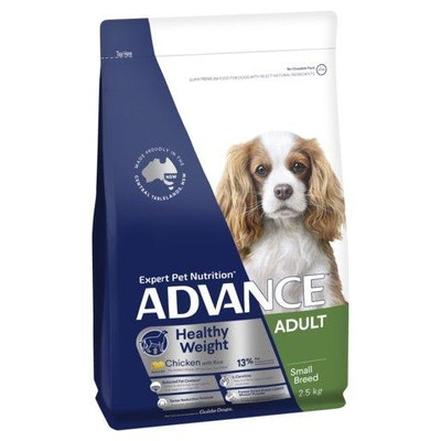 Advance Dry Dog Food Weight Control Small And Toy Breed 2.5kg