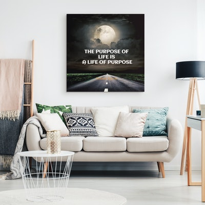 """Art Of A Kind A Life of Purpose Inspirational Canvas Wall Art 8x8"""""""