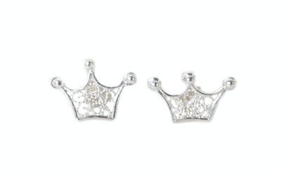 Continente Dorado Crown Studs Silver