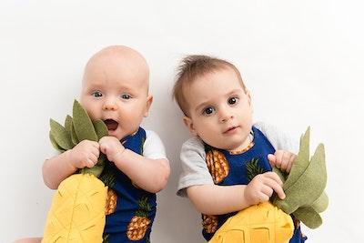 Commando Baby - Blue Pineapples