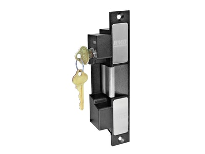 """Ross RMD 3200 """"Non-Monitored"""" Fail Safe electric strike with keyed lock out 12v - 24v industry standard footprint in black"""