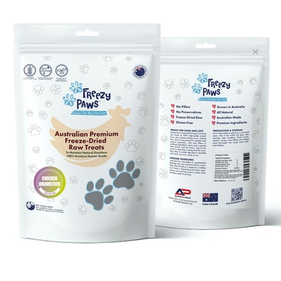 Freezy Paws Premium Freeze-Dried Chicken Drumstick Raw Treats 100g