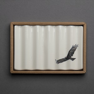 Soap Dish with Wedge-Tailed Eagle
