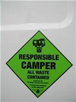 NZMCA sign of responsible campers