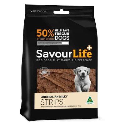 Savourlife Australian Milky Strips Dog Treats 150G