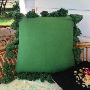 Majorelle heritage green cushion