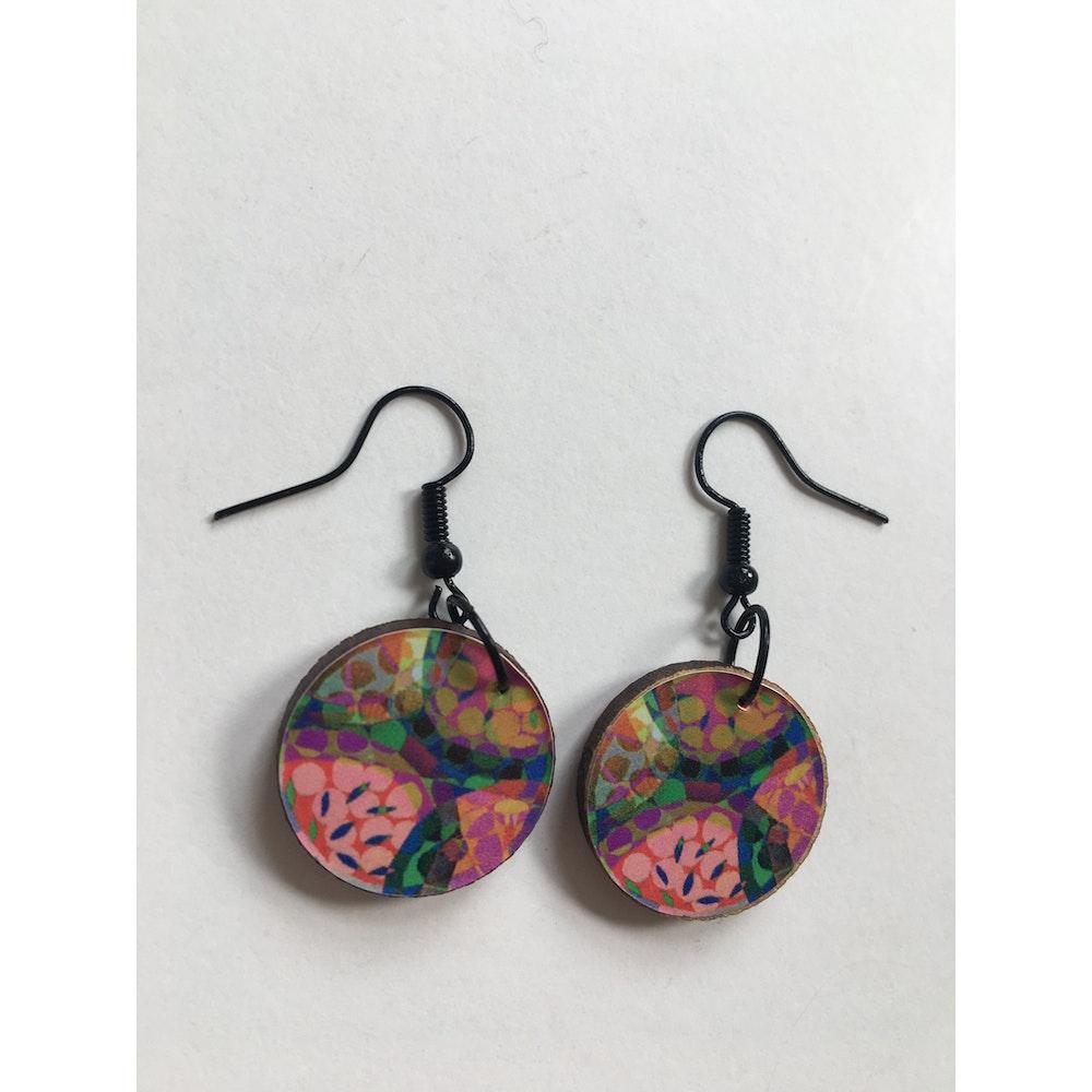 One of a Kind Club Watermelon Jemma Skellett Print Earrings