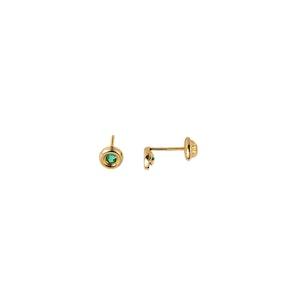 Zoe Bezel-set Stud Earrings 10k Yellow Gold