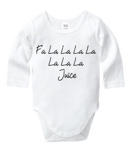 Fa La La Juice White Onesie
