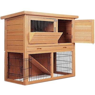 Deluxe Wooden Premium Rabbit/Guinea Pig Cage/Hutch- 86cm