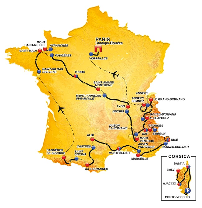Tour de France 2013 Stage Map