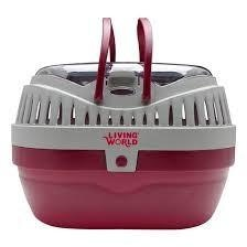 Living World Small Animal Carrier Large Burg/Gry