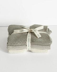 Bianca Lorenne Lavette Taupe Washcloths - Set x 3