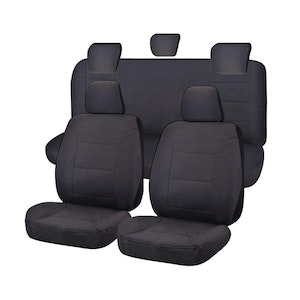 All Terrain Car Seat Covers for Toyota Hilux Dual Cab Utility 2005-2016 | Charcoal