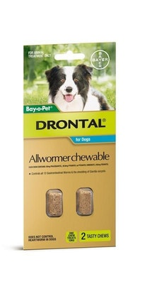 Drontal Dog Wormer Small 10kg 2 pack