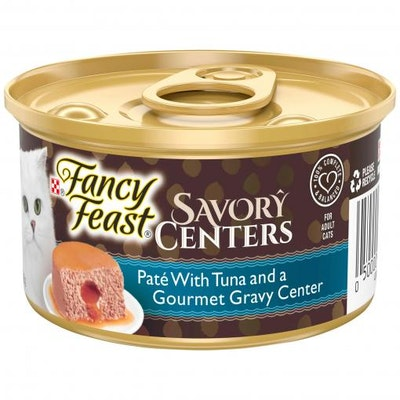 Fancy Feast Savory Centers Pate With Tuna and a Gourmet Gravy Center 85g