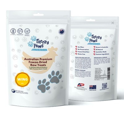 Freezy Paws Premium Freeze-Dried Chicken Wing Raw Treats 100g