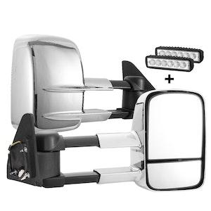 SAN HIMA SAN HIMA Pair Extendable Towing Mirrors for Toyota Prado 120 Series Wagon 2003-09