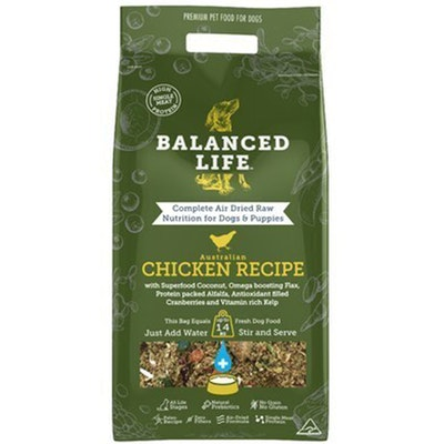 BALANCED LIFE Air Dried Raw Chicken Recipe Dogs & Puppies - 2 Sizes