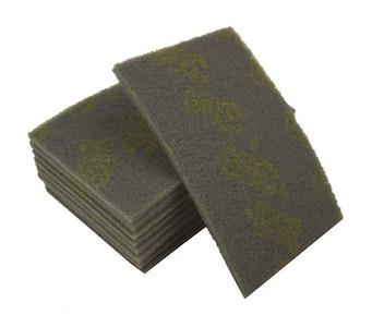 "Scotch Hand Pad 6"" x 9"" Grey - 10 Pack"