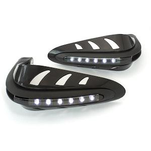Black Handguards - White LED