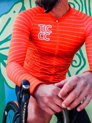 TIC CC Parcours long sleeve jersey – Neon orange
